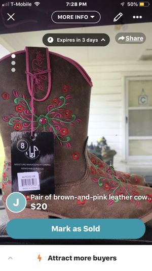 Brand new little girl cowboy boots size 8 for Sale in Ward, AR