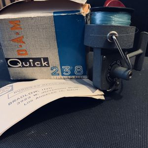 VINTAGE !!! D-a-m quick 238 open face fishing reel for Sale in Coeur d'Alene, ID