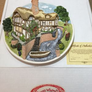 """""""On the Riverbank"""" Wall Plaque by David Winter for Sale in Poway, CA"""