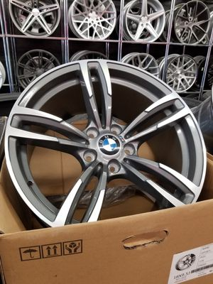 """Bmw gunmetal machine face 19"""" new m4 m4 style rims tires set for Sale in Hayward, CA"""