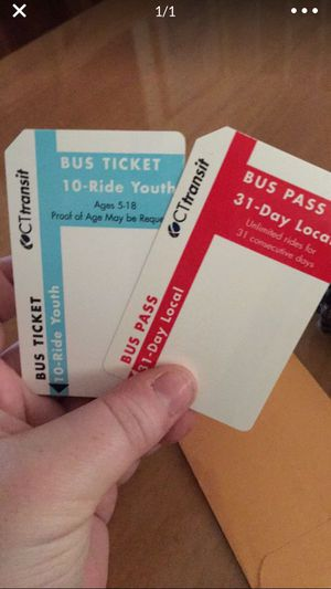 Ct transit buss pass for Sale in Ansonia, CT