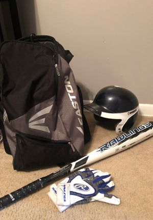 BBCOR baseball bat, bag, helmet & gloves $90 for Sale in Chesapeake, VA
