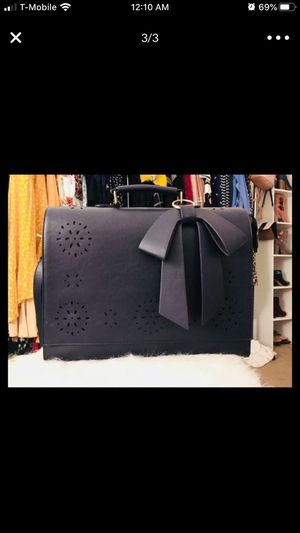 Laptop bag with bow detail ( briefcase) for Sale in San Jacinto, CA