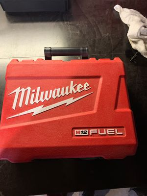 Milwaukee m12 fuel drive case for Sale in Harvey, IL