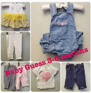 7 pieces of girls Baby Guess clothing size 3-6 months for Sale in Los Angeles, CA