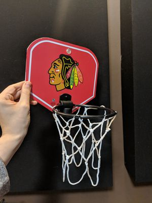 Blackhawks mini basketball hoop for Sale in Homer Glen, IL