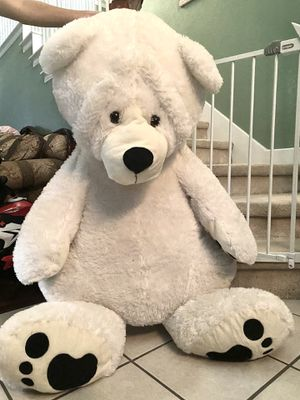Extra large white stuffed teddy bear for Sale in Arlington, TX