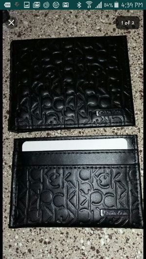 Brand new Calvin Klein matching leather wallets for Sale in Las Vegas, NV