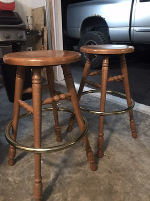Real oak bar stools for Sale in Yorkville, IL