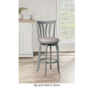 "#84- 30"" Savana Swivel Height Barstool Blue Wirebrush/Cream - Hillsdale Furniture for Sale in Los Angeles, CA"