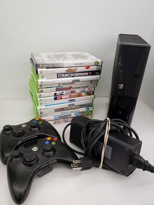 Xbox 360 E with controllers and games for Sale in Cumberland, RI