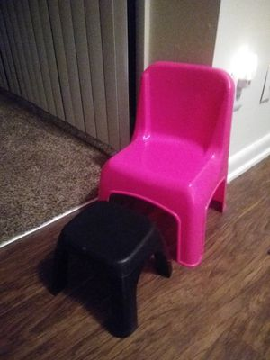 Kids Chair and Foot Stool for Sale in High Point, NC