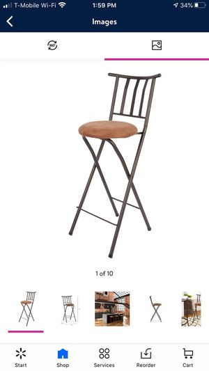 "Mainstays Slat Back Folding 30"" Bronze Bar Stool, Beige for Sale in Anaheim, CA"