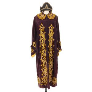 Antique Odd Fellows Chief Patriarch Embroidered Velvet Robe with Hat for Sale in Lakewood, CO