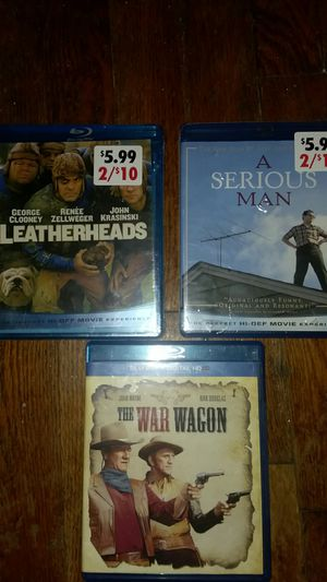 Leatherheads, The War Wagon, A Simple Man Blu-ray dvds for Sale in Tulsa, OK
