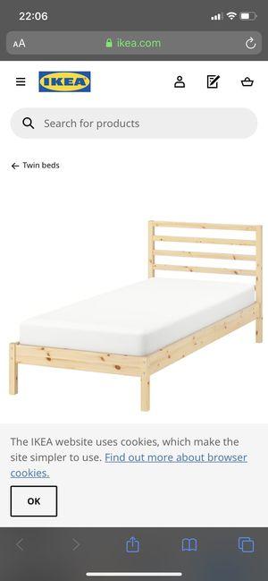 Ikea Tarva Twin Bed Frame for Sale in Tacoma, WA