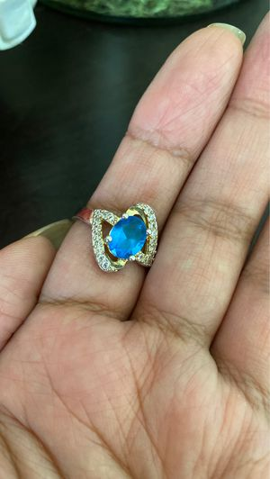 Sterling silver blue stone ring for Sale in Fife, WA