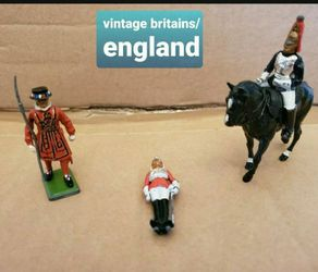 Vintage Metal Horse, Toy Figure Rider, Britains Figure from England, Soldier for Sale in Falls Church,  VA