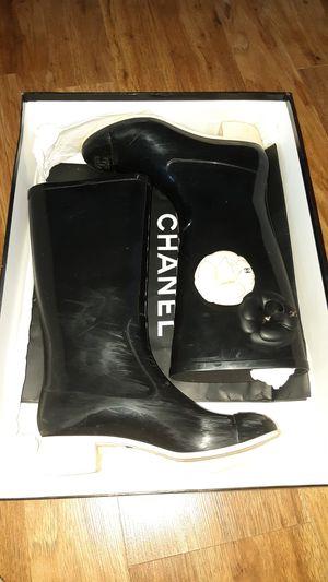 Chanel original rain boots size 36 for Sale in Miami Beach, FL