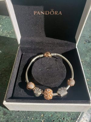 Pandora Charm Bracelet-Silver/Rose Gold for Sale in Seattle, WA