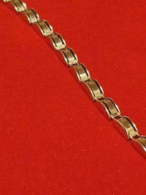 STUNNING 14K WHITE GOLD BRACELET for Sale in Springfield, VA