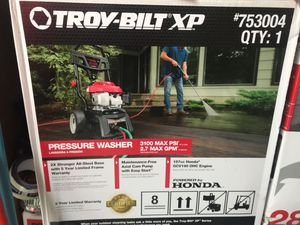 Troy Bilt Pressure Washer with Honda Engine Please CALL! for Sale in Brockton, MA