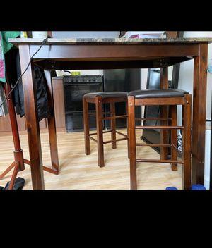 Granite top bar set 2 stools for Sale in Carpentersville, IL