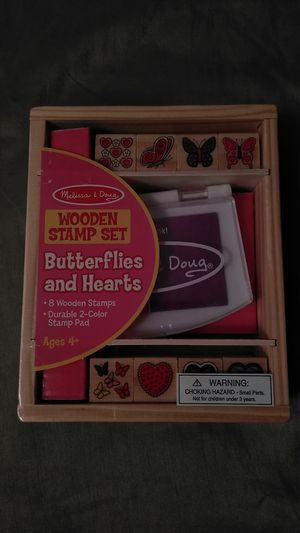 Melissa and Doug wooden stamp set for Sale in Brooklyn, NY