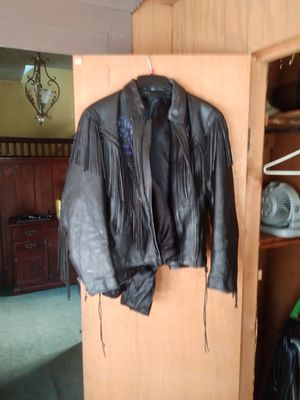 Fringe leather jacket size large for Sale in Akron, OH