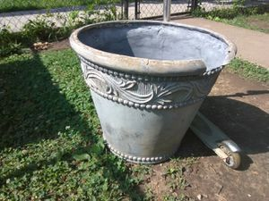 Large Decorative Planting pot 18 inches long and diameter for Sale in Washington, DC