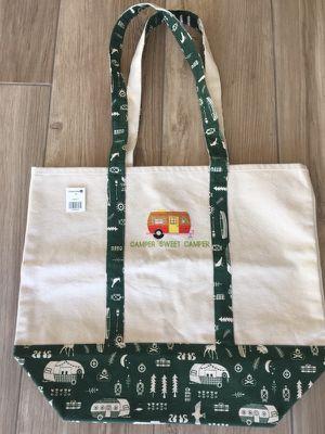 Heavy Duty Canvas Tote Bag/Shoulder Bag (Camper Sweet Camper) for Sale in MONARCH BAY, CA