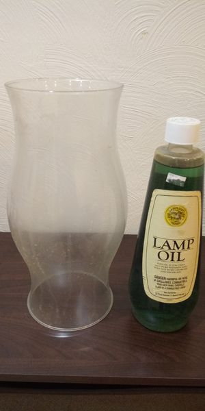 Lamp Oil And Glass Vase for Sale in Penn Hills, PA