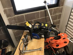 Brand new cobalt chainsaw with 80 volt battery and charger for Sale in Federal Way, WA