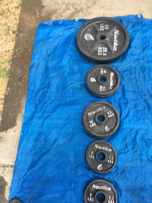 Olympic weights NAUTILUS BRAND ASKING FOR $400 O.B.O for Sale in Stockton, CA