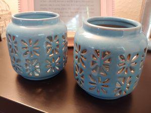 Matching Light Blue Stone Lanterns for Sale in Mountlake Terrace, WA