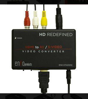 enKo products Mini HDMI to AV RCA Composite & S-Video Video R/L Audio Converter for Sale in Orange, CA