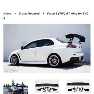 "Lancer evolution x Battle Aero Wing 70"" for Sale in Des Moines, WA"