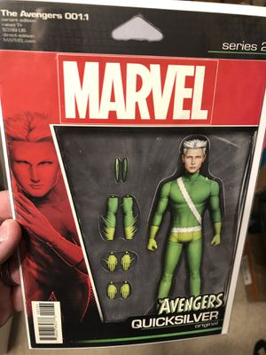 Marvel Comics AVENGERS issue #1.1 Action Figure Variant Cover Comic Book - QuickSilver!! for Sale in Plainfield, IL