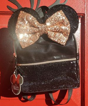 Disney Minnie Ears Rose Gold Backpack for Sale in Tampa, FL