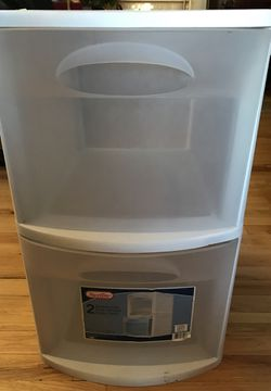 Sterilite Plastic 2 Drawer Cabinet for Sale in New York,  NY