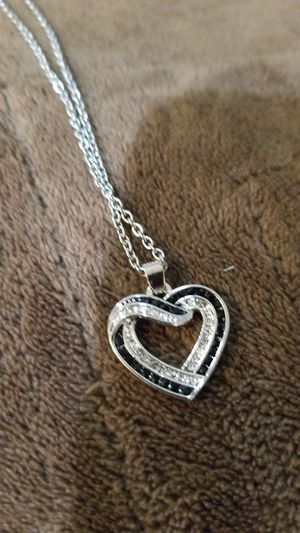 Black & Silver Heart Chain for Sale in Manchester, CT