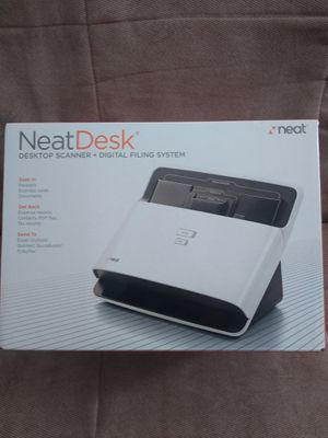 Neat Desk office organizer scanner ... Documents, business cards everything $25 delivery available for Sale in Wichita, KS