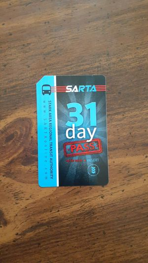 Brand new 31 day Sarta pass for Sale in Canton, OH