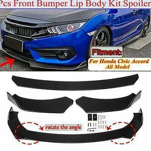 Glossy Black Front Bumper Lip Spoiler Splitters Body Kit For Honda Civic Accord for Sale in Pomona, CA