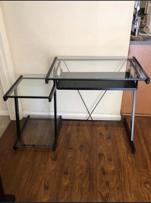Modern Glass Computer table - Almost New for Sale in Pacheco, CA