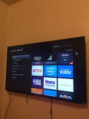 """50"""" sharp tv •Roku tv smart tv for Sale in Chicago, IL"""