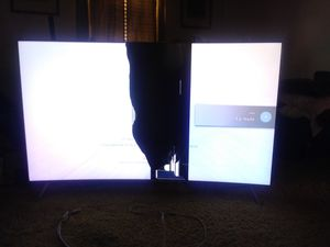 65in samsung curved smart tv screen damaged for Sale in Norfolk, VA