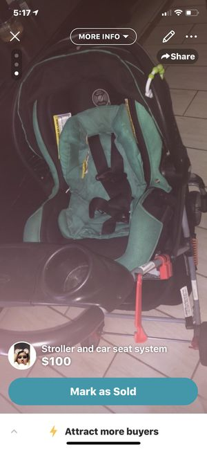 Stroller/car seat traveling system. Foldable for Sale in Myrtle Beach, SC