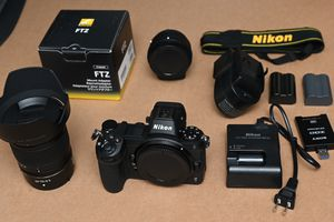 Nikon Z7 with 24-70mm lens and adapter for Sale in Bellevue, WA