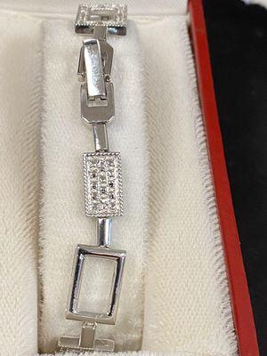 Diamond silver bracelet for Sale in Riverview, MI